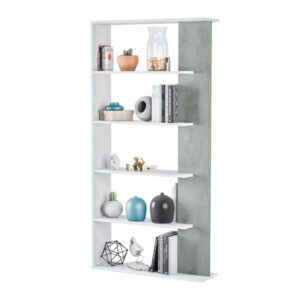 white concrete bookcase sale uk