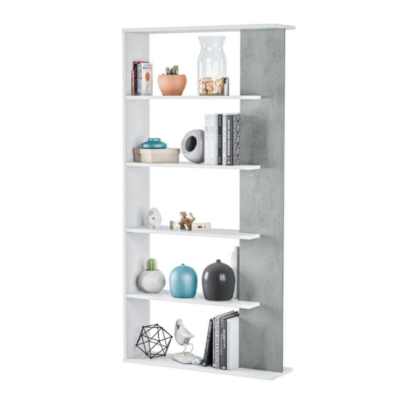white concrete bookcase sale uk