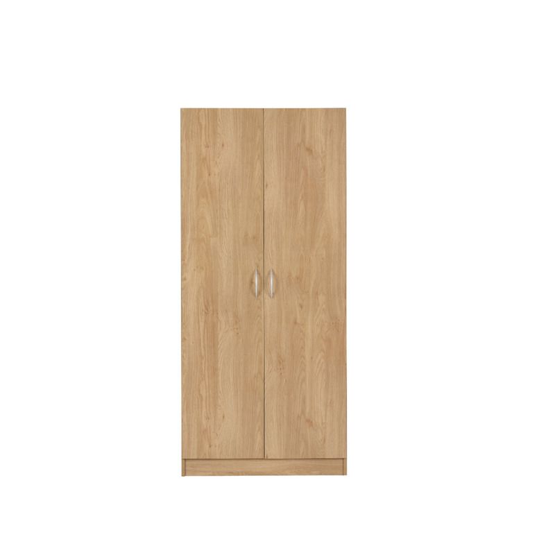 2 door wardrobe oak effect