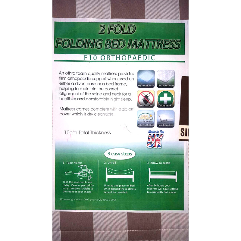 3ft Single Unique 2 Fold Special Orthopaedic Mattress