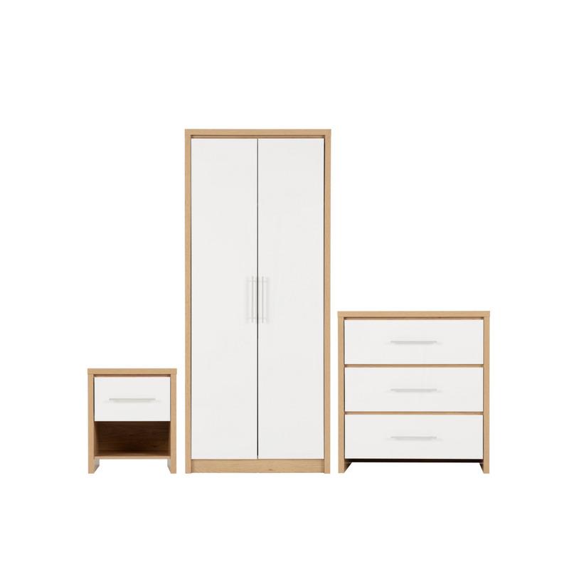 white wardrobe and drawers set