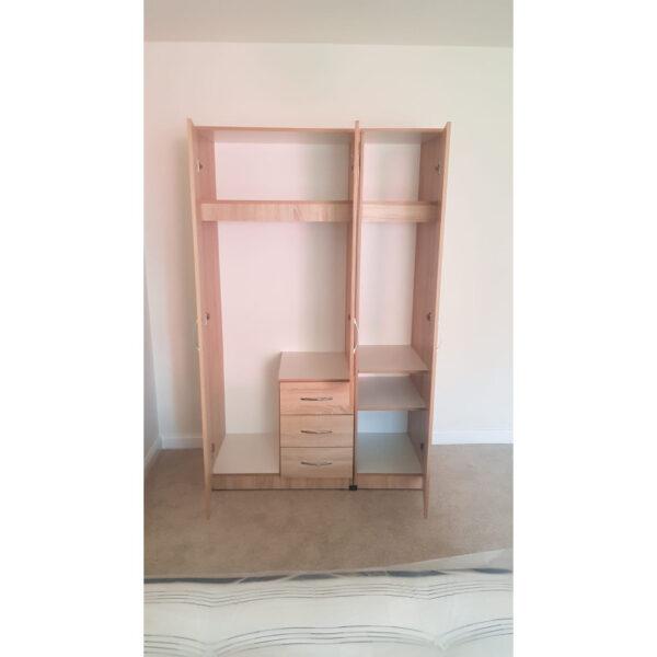Classic 3 door ready assembled wardrobe
