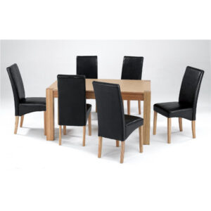Milan Dining Table set with 6 chairs