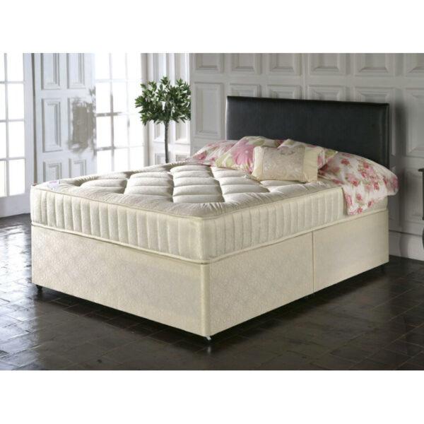 single divan bed with orthopedic mattress