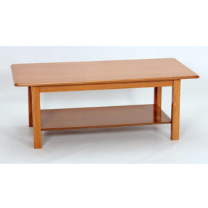 Ideal Solid Wood Coffee Table with Shelf