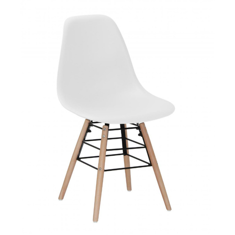 Solid Plastic Chair with Solid Beech Legs