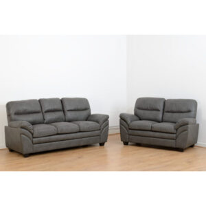 Santiago Faux Leather 3 Plus 2 Seater Sofa Set