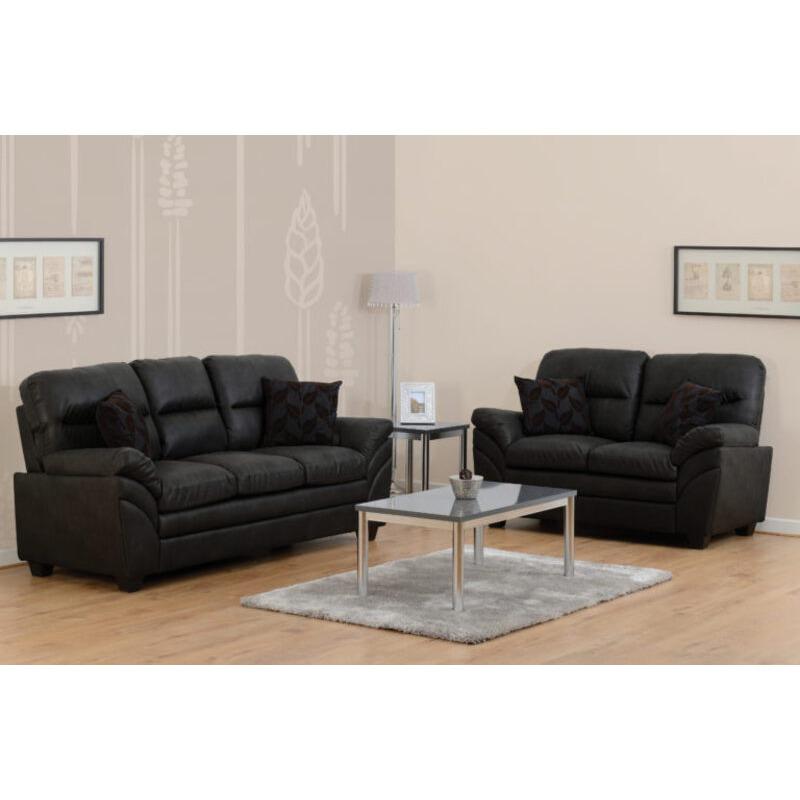 Santiago Faux Leather 3 Plus 2 Seater Sofa Set
