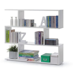 wide white bookcase in UK