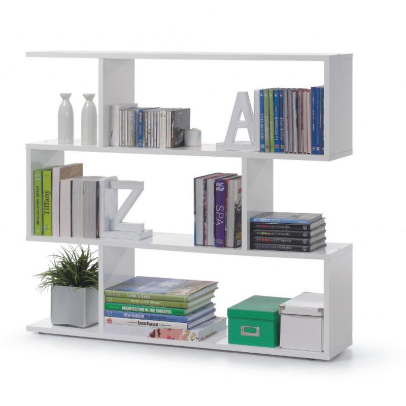 wide white bookcase in UK