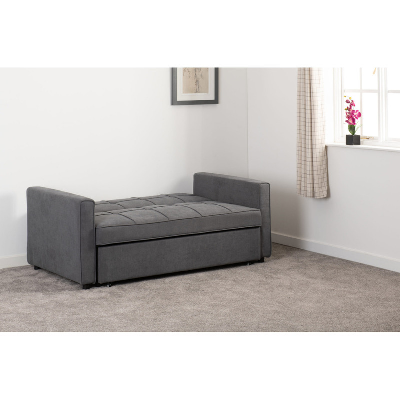 luna dark grey sofa bed