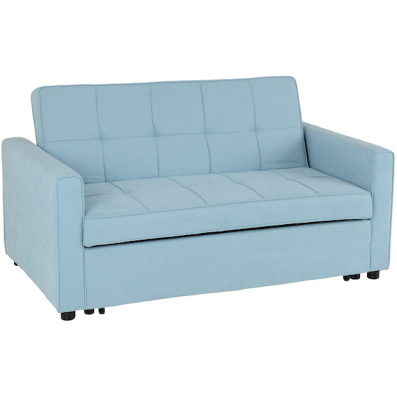 luna light blue sofa bed