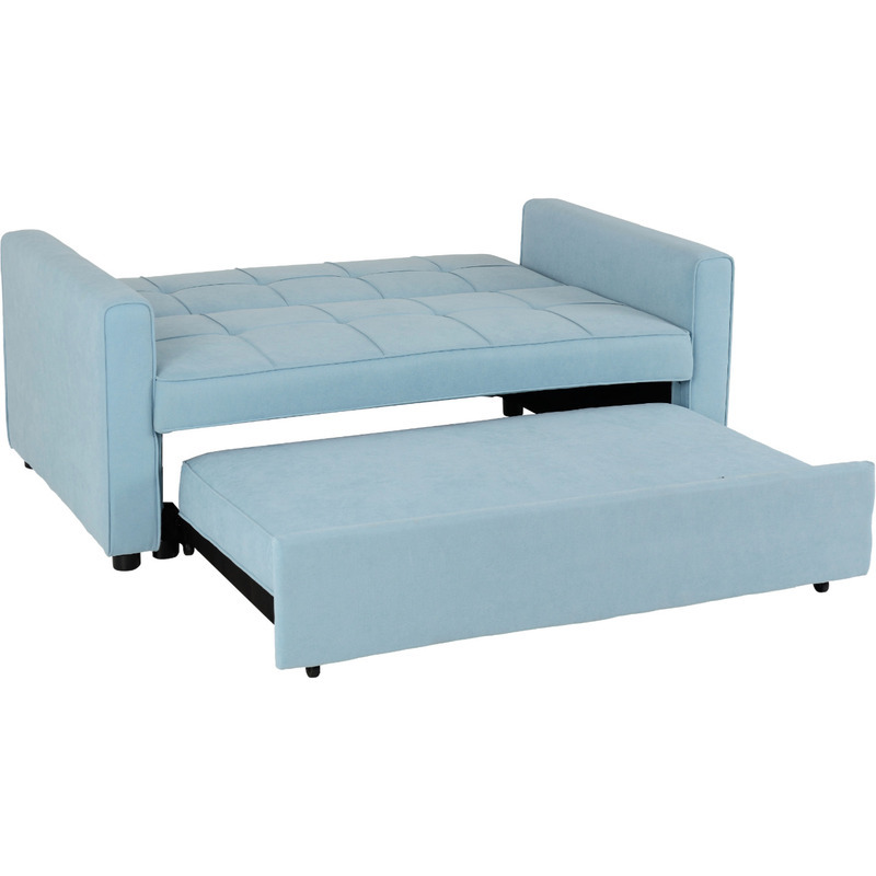 luna light blue sofa bed