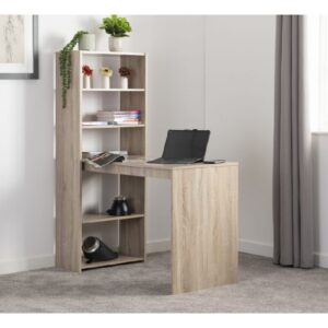 Oak Desk Effect Bookcase